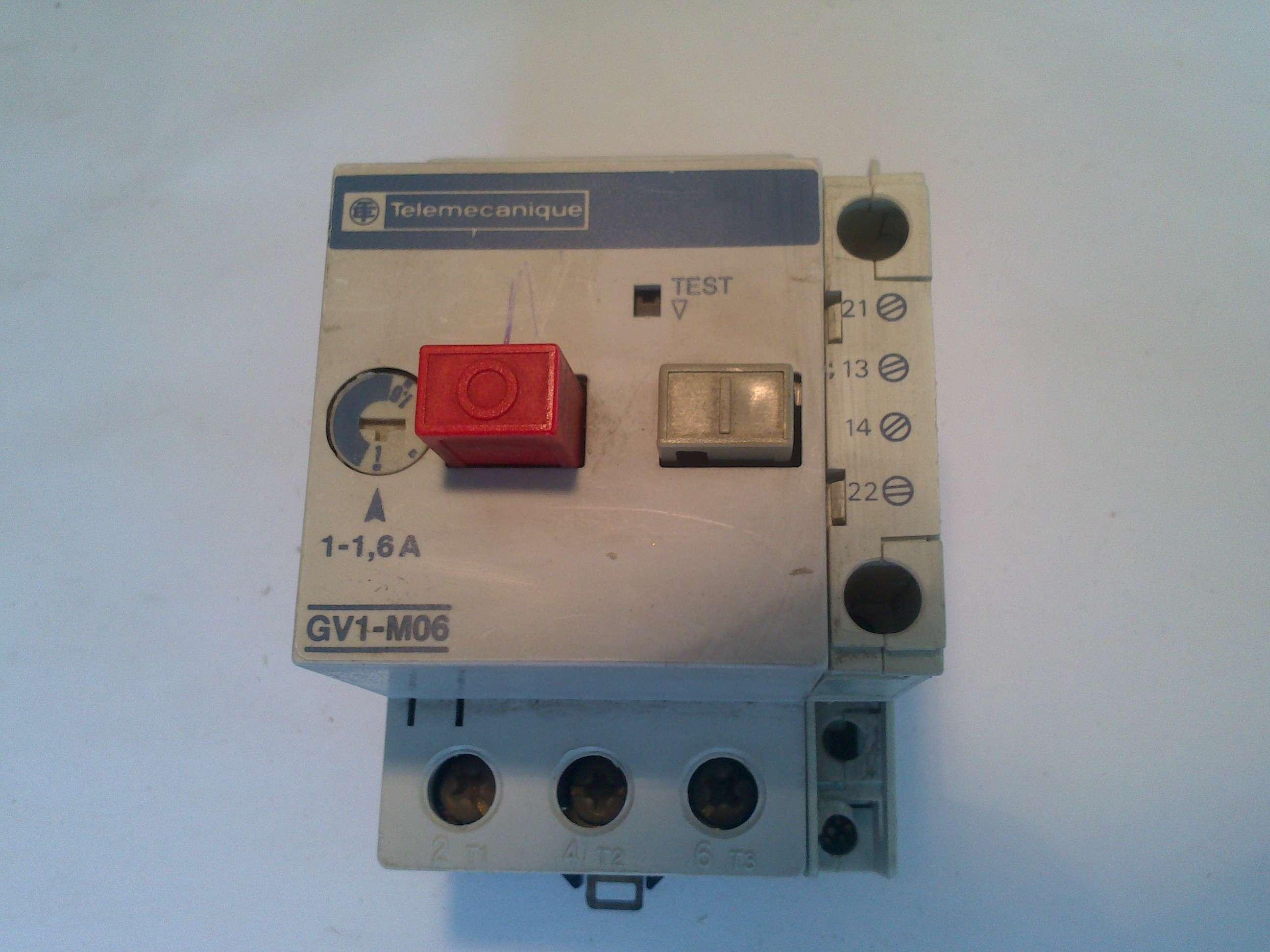 Telemecanique GV2-M04 Motor Protection Circuit Breaker 0.4Amp-0.63Amp