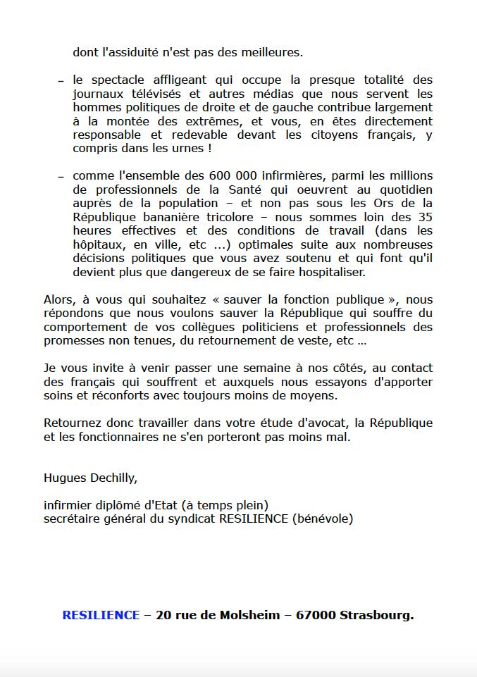 """RESILIENCE répond aux  """"propositions décoiffantes"""" du député Alain Tourret sur les fonctionnaires ... 9mCtUz"""