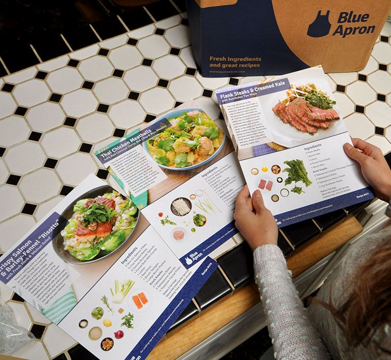 blue apron blogger - food delivery service