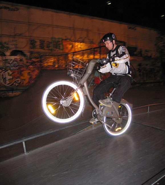 roue arrière avec un vélib'