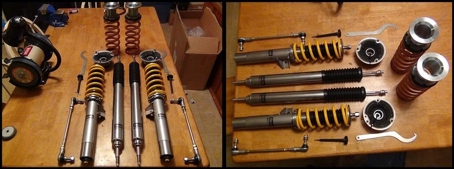 Ohlins R/T coilovers W/12KG swift springs install pics