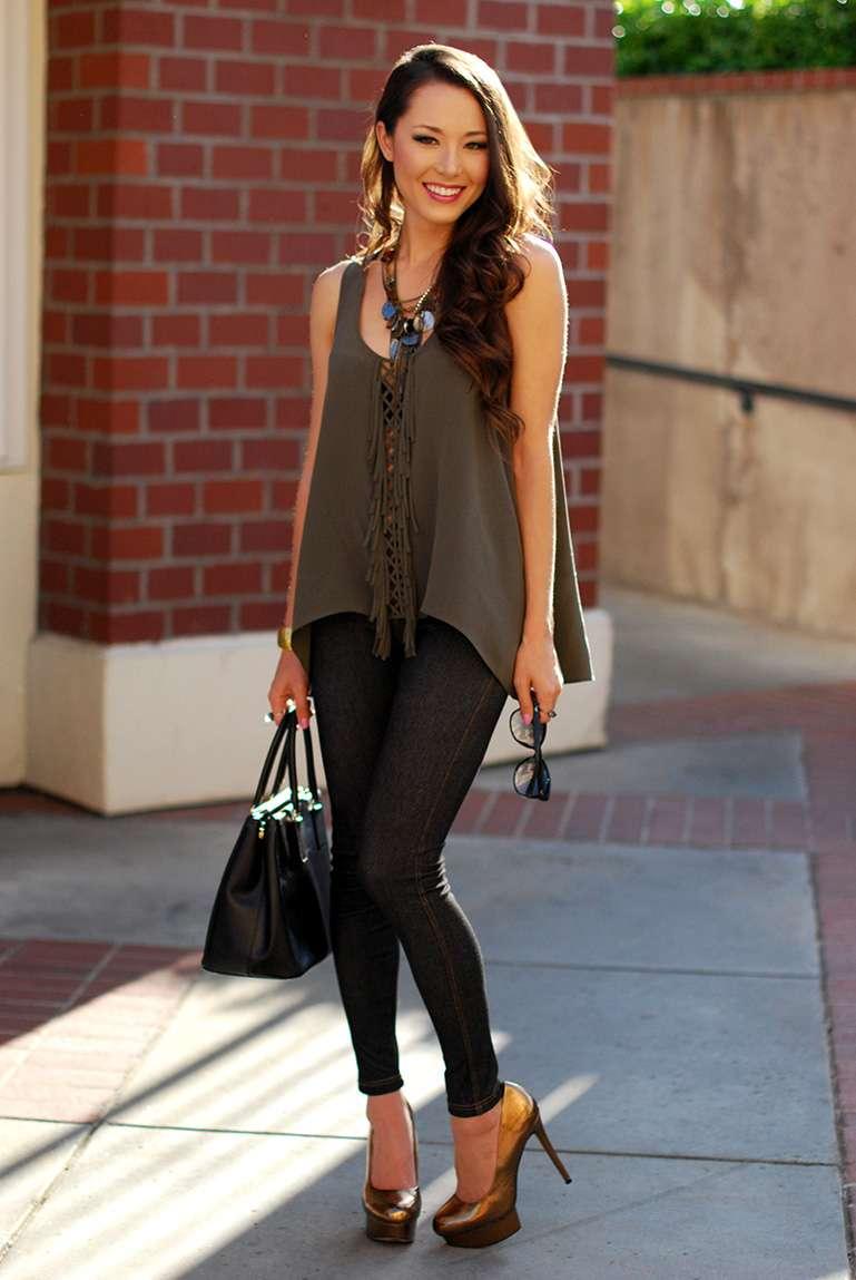fashion fashionblogger ootd fashion trends jeggings bcbgmaxazria