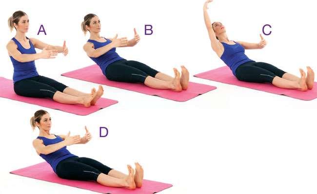 Pilates -  Yukarı-aşağı karın sıkıştırma