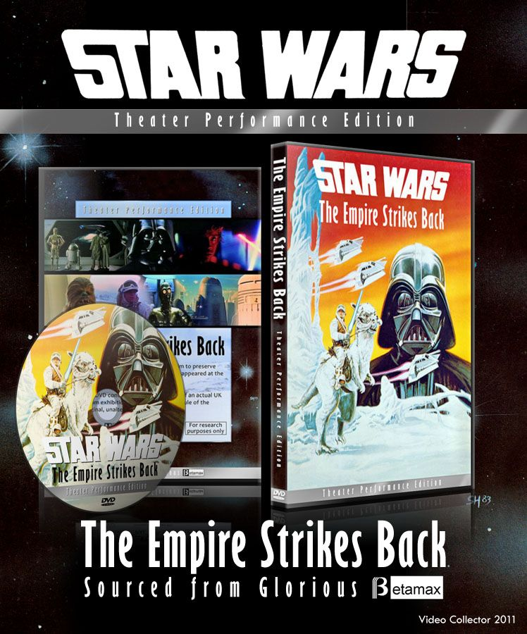 Theater Performance Edition Empire Strikes Back Betamax Bootleg Preservation Released Original Trilogy