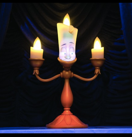 Lumiere from Enchanted Tales with Belle!