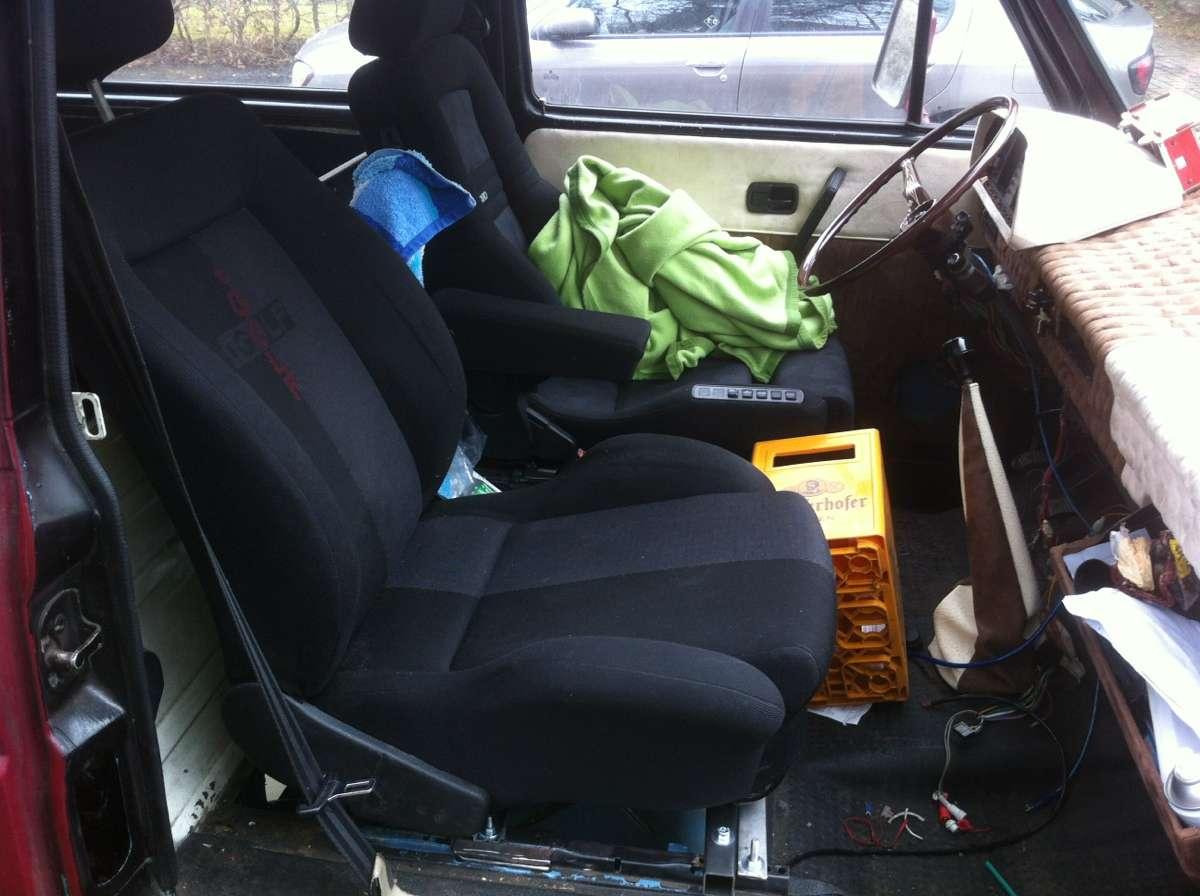 golf iii gti sitze im t3 m glich. Black Bedroom Furniture Sets. Home Design Ideas