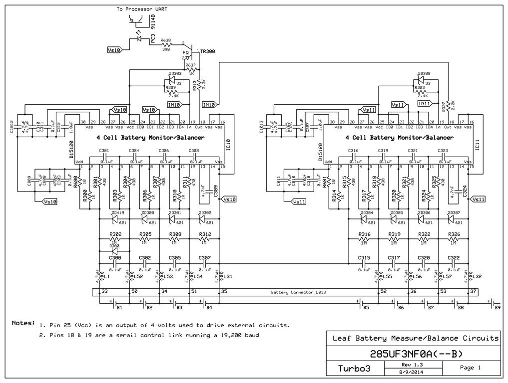 the service plug that opens the high voltage circuit requires that the bms  also be split into two isolated sections  this page shows the photocoupler  used