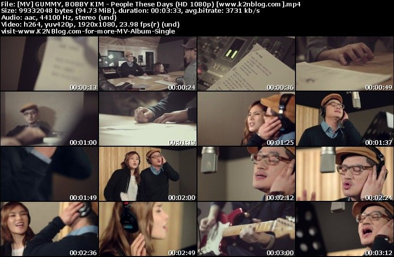 [MV] GUMMY, BOBBY KIM - People These Days (HD 1080p Youtube)