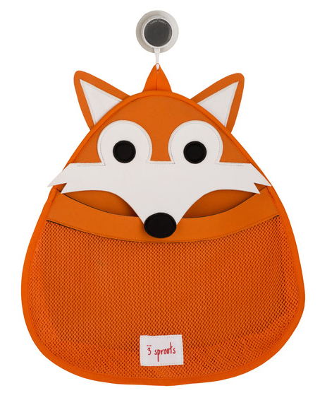 Road Trip Tips: Hang a bathtub storage caddie, like this Fox bag from 3 Sprouts, in your car to keep toys in one place