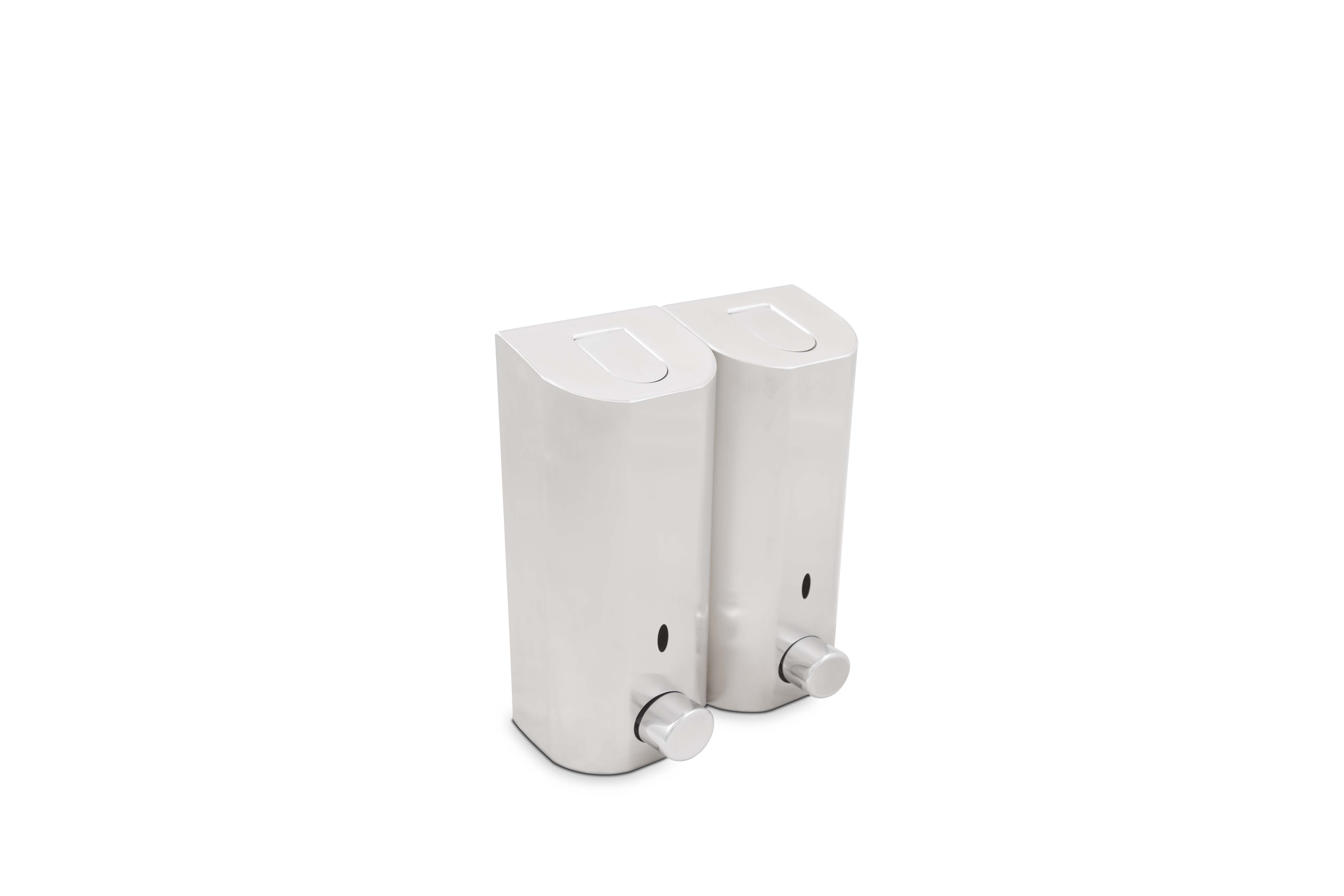 Zadro Stainless Steel Double Shower Dispenser W Satin