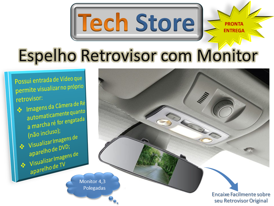 Retrovisor com Monitor