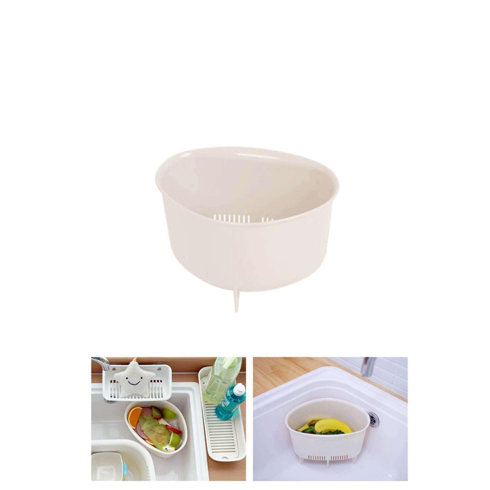 Sink Food Waste Disposal Bin Sink Drainer Fruits Veggie Washing Basket Kitchen