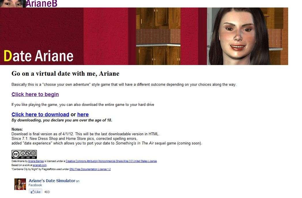 dating simulator ariane no censor download free download