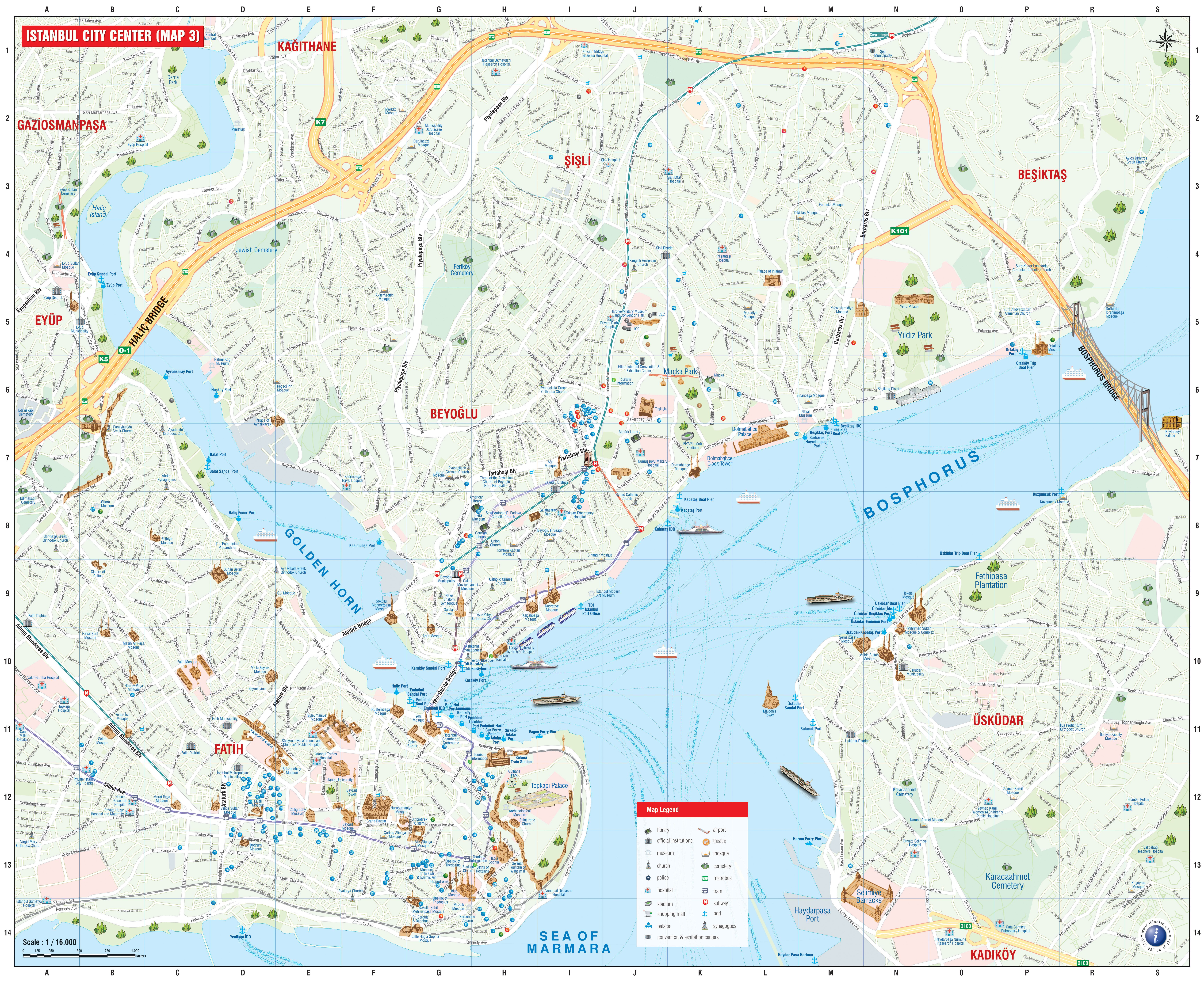 Istanbul Maps Tour Maker Turkey