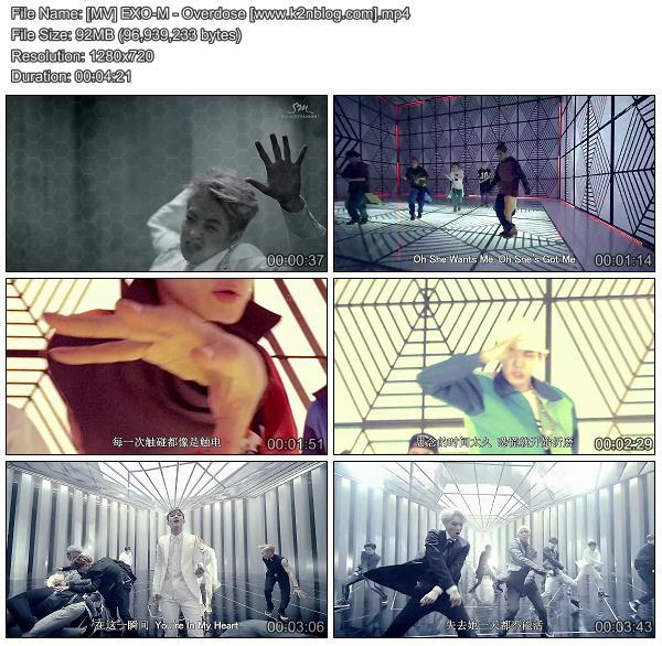 [MV] EXO-M - Overdose (Chinese Ver.) [HD 720p Youtube]