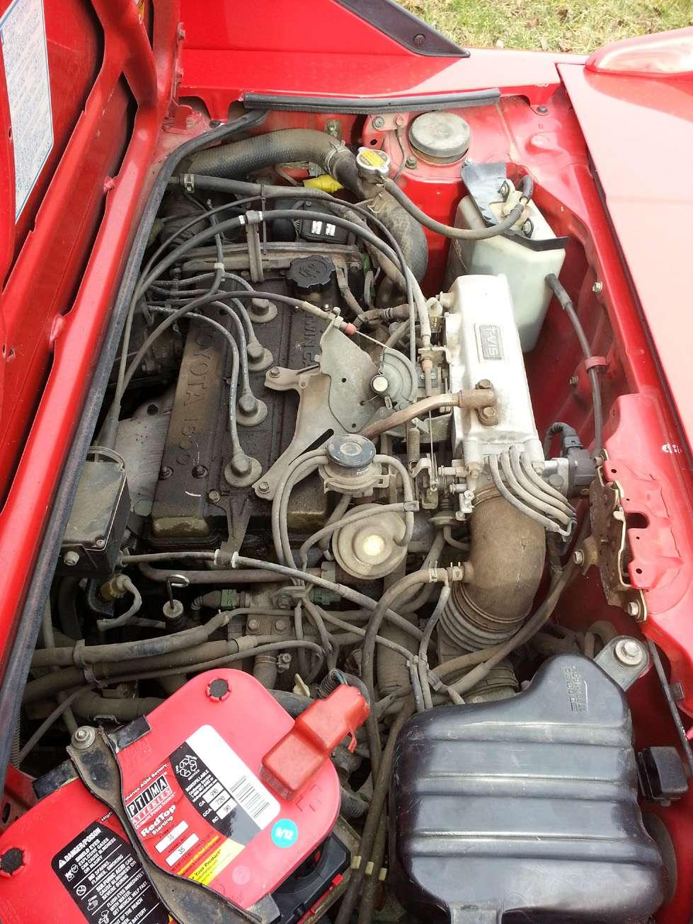 Dirtyengine on 1987 Toyota Tercel Engine