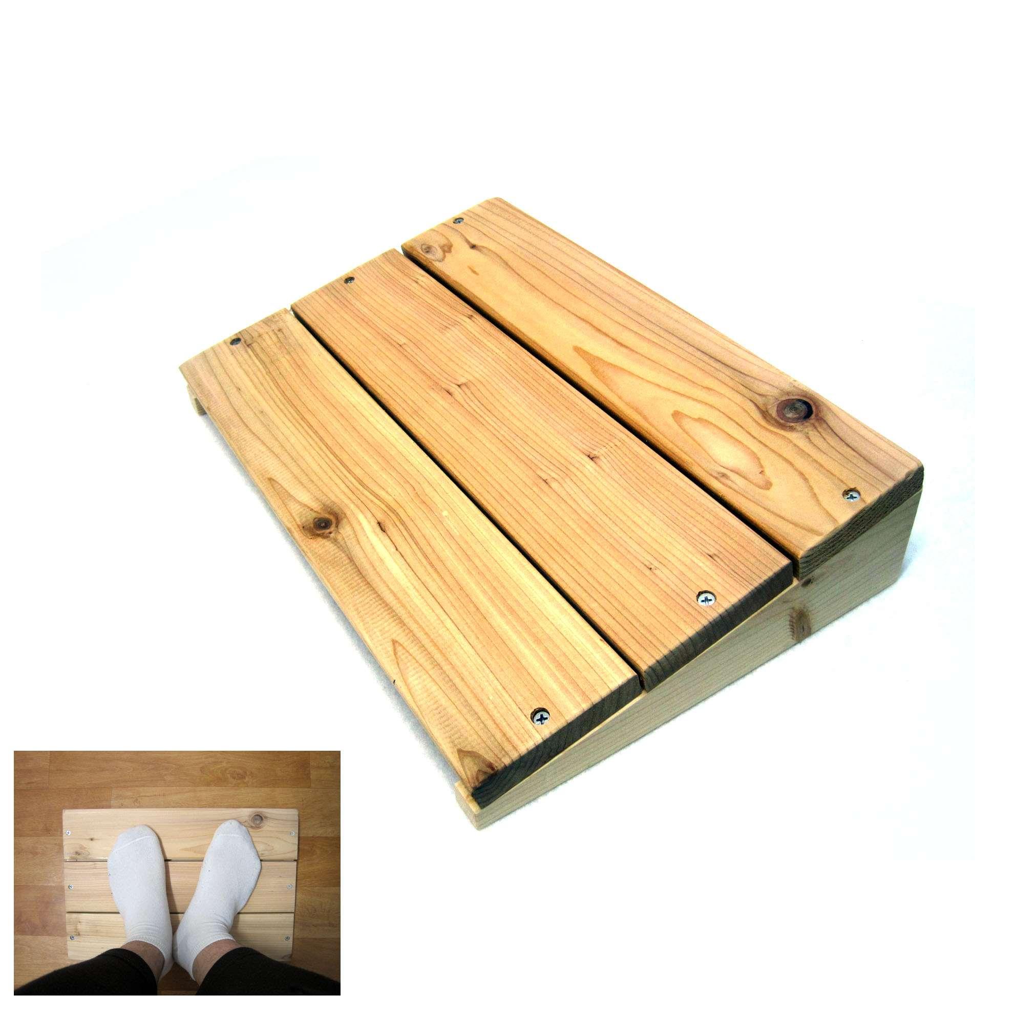 Eco Western Red Cedar Foot Rest Stool Desk Furniture Odor