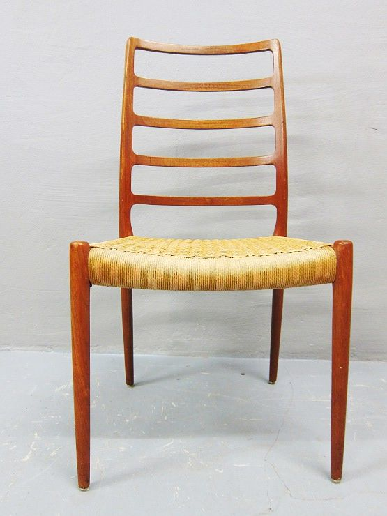 niels o m ller model 82 teak stuhl highback danish design 60er jahre ebay. Black Bedroom Furniture Sets. Home Design Ideas