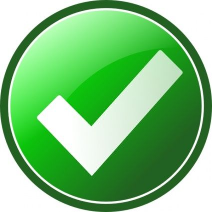 Green Tick Yes