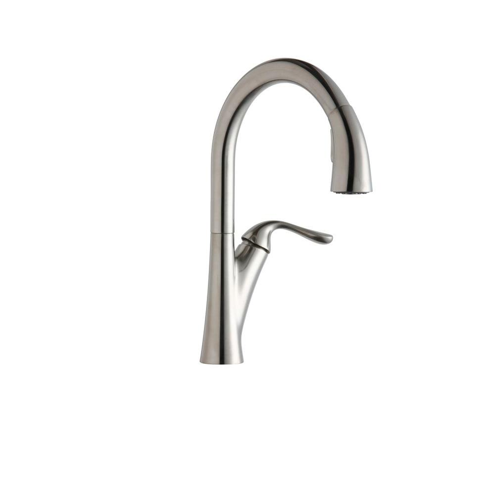 Elkay Kitchen Faucets | Details About Elkay Lkha4031as Elkay Harmony Pull Down Brass Kitchen Faucet