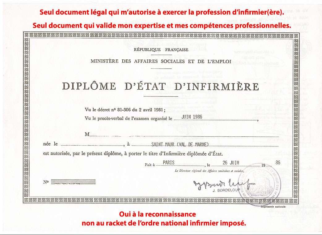 """opération : """"infirmier mort pour la France"""", mon diplôme à l'Elysée  ... Kzjh"""