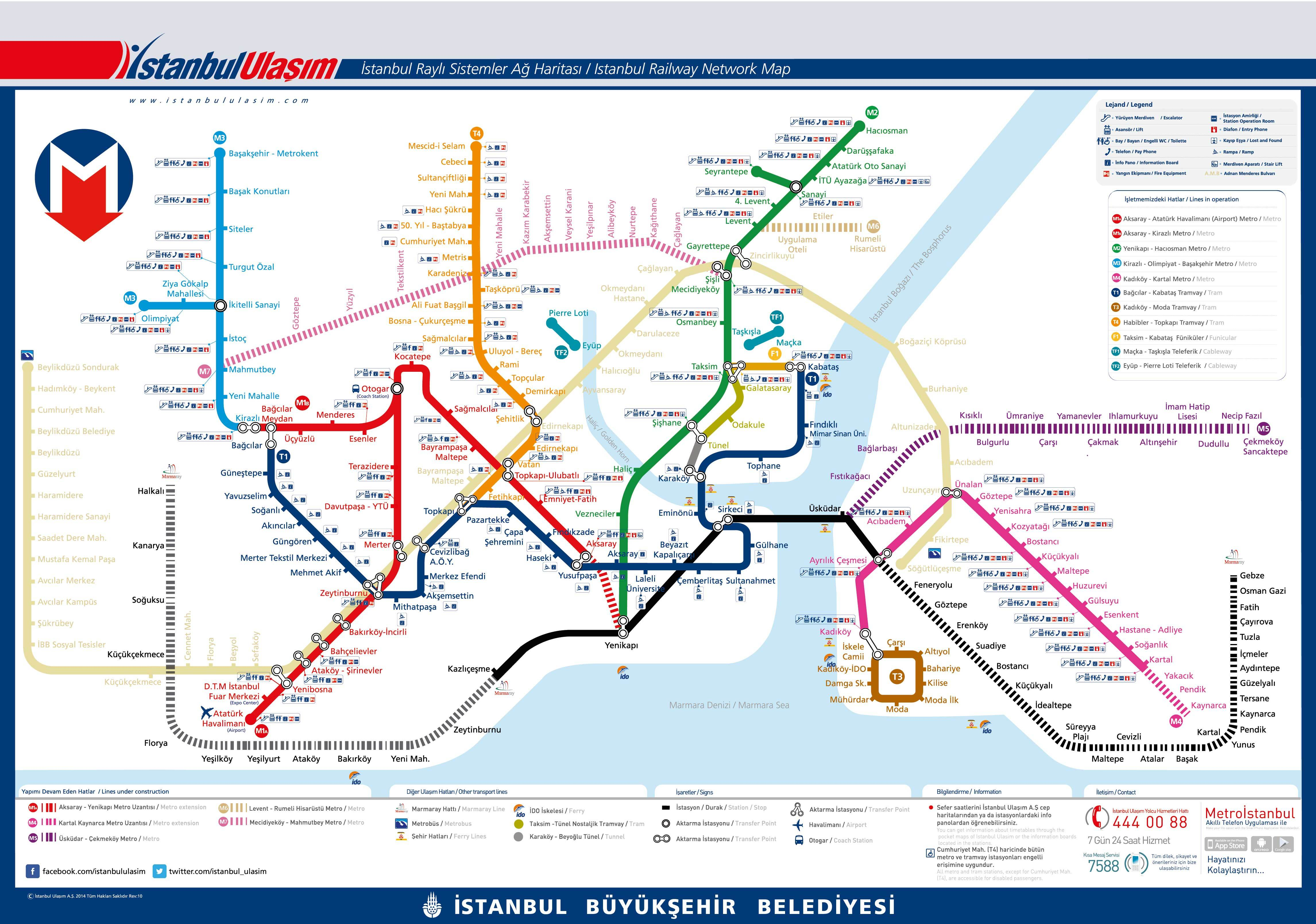 Subway Map Of Istanbul.Istanbul Maps Tour Maker Turkey