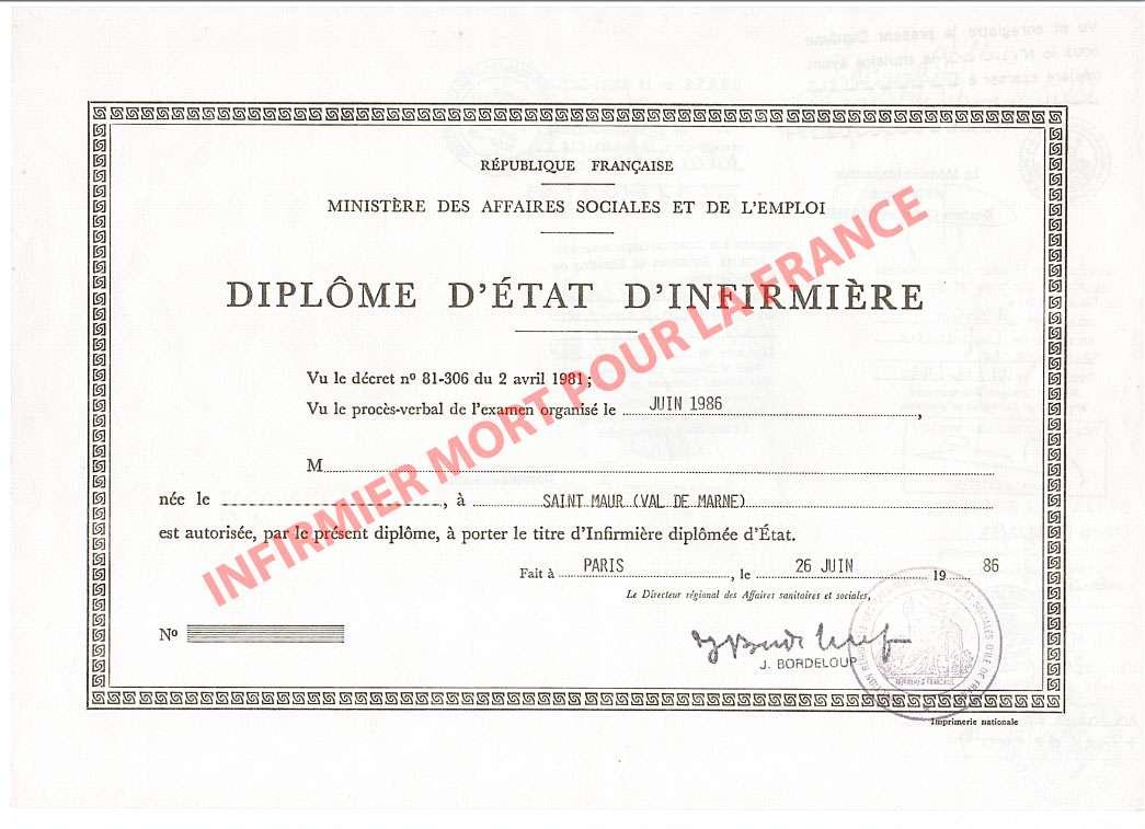 """opération : """"infirmier mort pour la France"""", mon diplôme à l'Elysée  ... 0szm"""