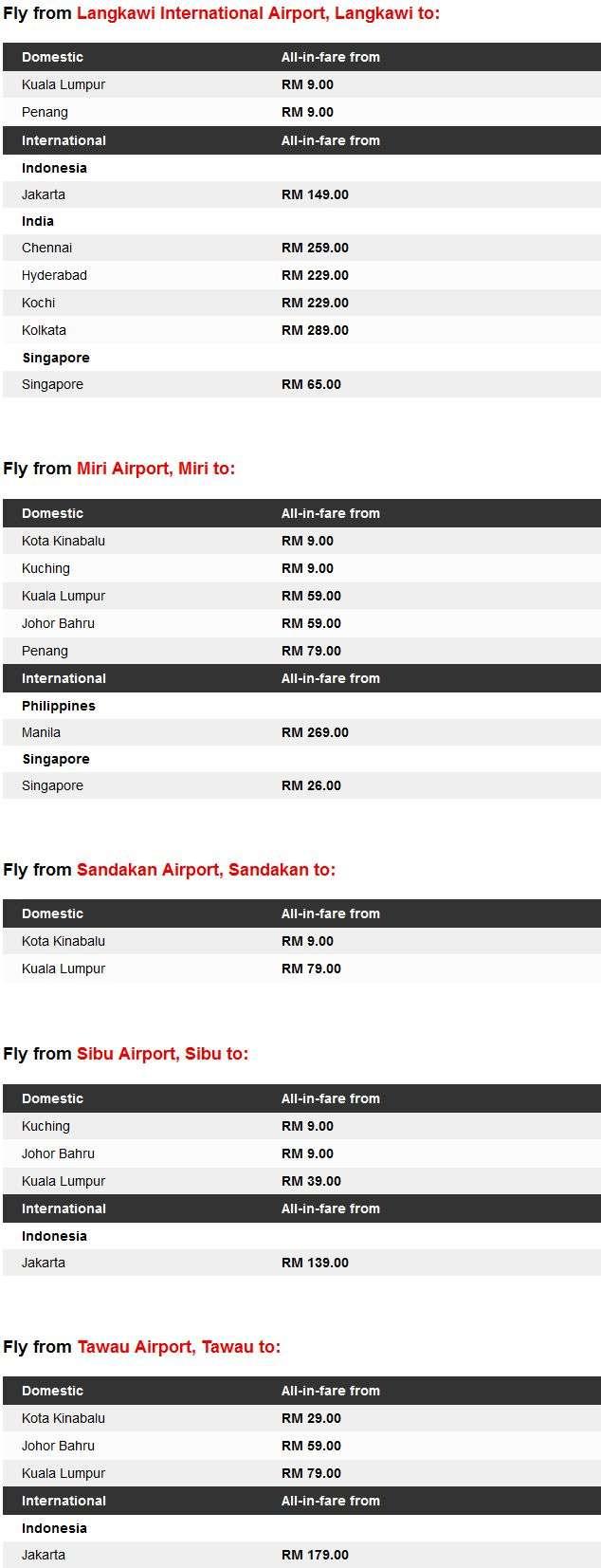 AirAsia Free Seats Zero Fares Details