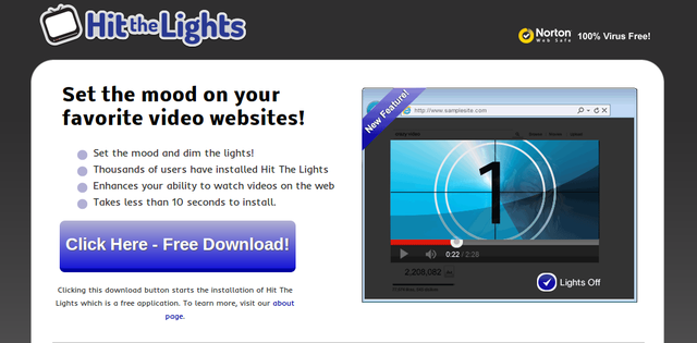 Hit The Lights adware