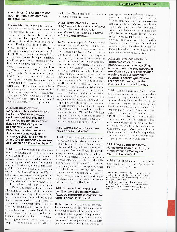 réchauffement (?) : une pleine page pour l'ordre infirmier dans la revue de la FNI ...  B0HhOr