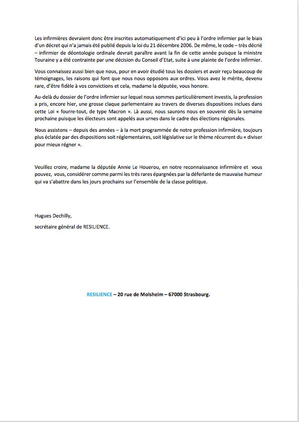 lettre de remerciements à madame la députée Annie Le Houerou. IW10W8