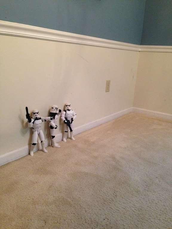 Stormtroopers repèrent un terrain pour planter sapin de noel