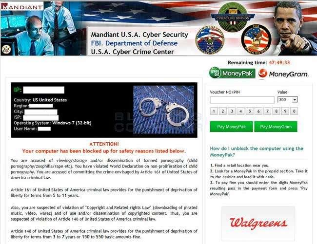 Delete Mandiant USA Internet Security Virus