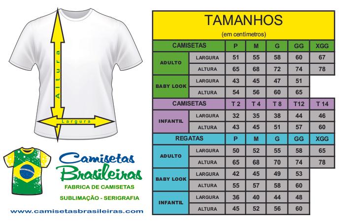 Camisetas Brasileiras - Kit Amostra 5 modelos + Tecido de Todas as Cores a20191e23efa8