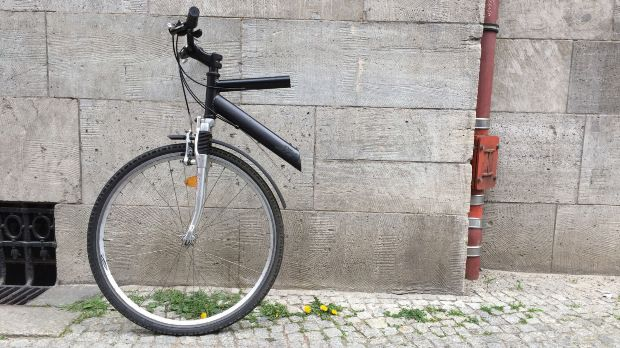 Vélo découpé à moitié