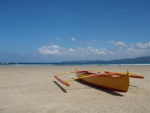 Sabang on Palawan in the Philippines - the beach to ourselves for a day!