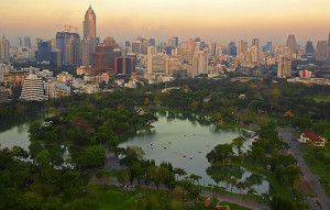 Lumphini Park From Above