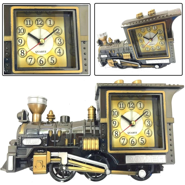 retro design zug lokomotive stil wecker weihnachten neuheit geschenk ebay. Black Bedroom Furniture Sets. Home Design Ideas