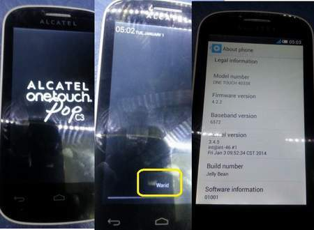 Alcatel One Touch POP 4033x Country code Sim unlock Done By Miracle