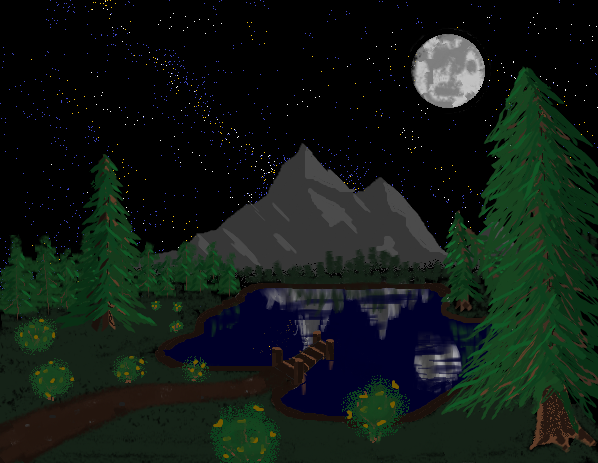 My Bob Ross inspired MSPainting: