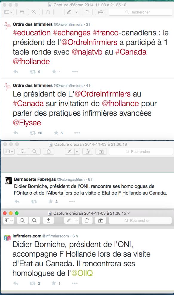 l'ordre infirmier invité dans la délégation officielle du président Hollande au Canada  ??? BndVx9