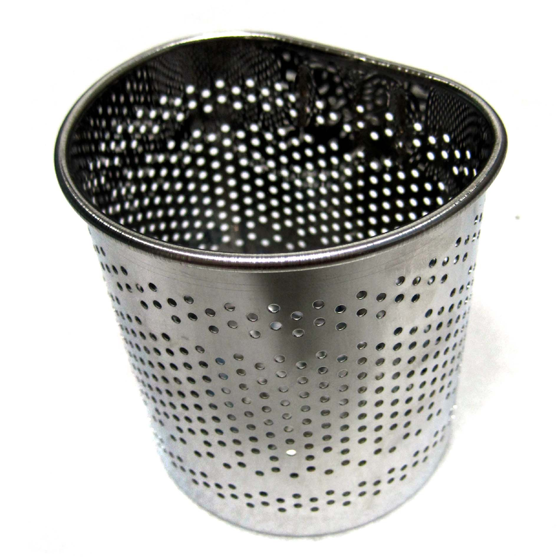 New Stainless Steel Perforated Half Circle Cutlery Holder