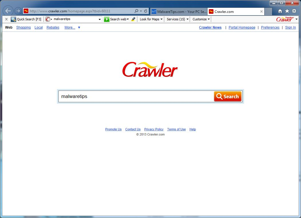 Crawler.com hijacker
