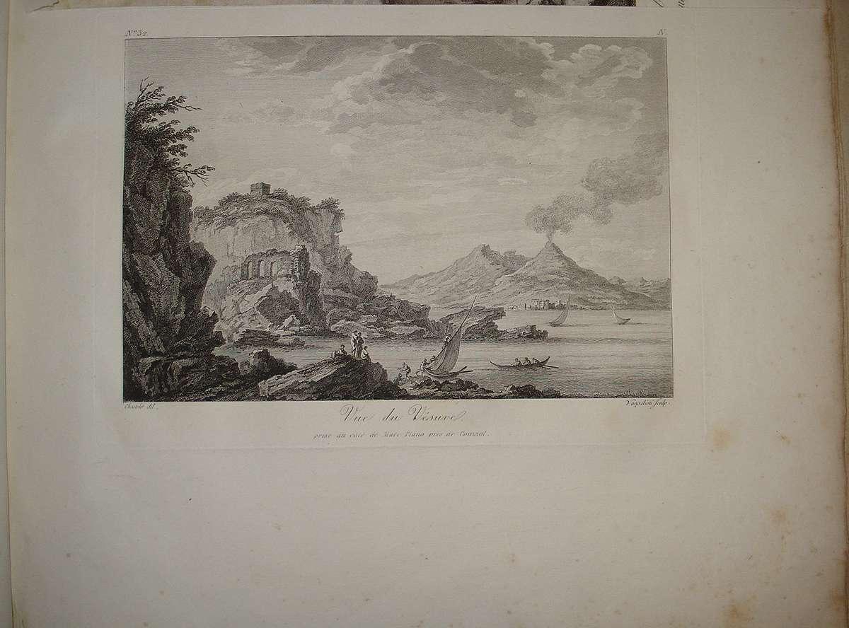 Squadra Navale Inglese nel Porto.Vesuvio.Stampa Antica.Passepartout.1861 Napoli