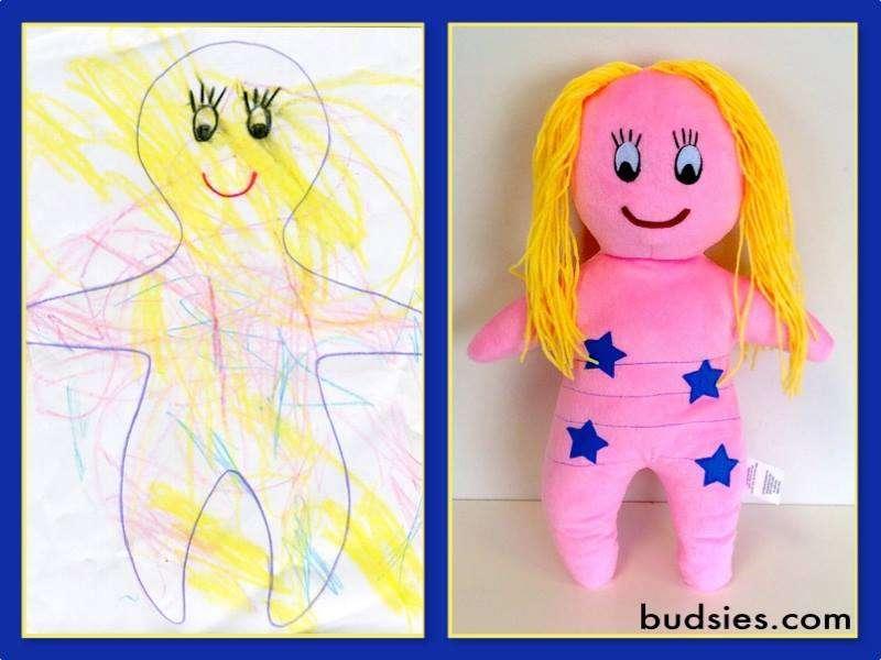Peluche Budsies - dessin