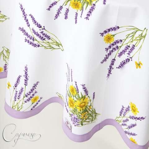 tischdecke 180 x 180 cm rund lavendel motiv aus italien 100 baumwolle neu ebay. Black Bedroom Furniture Sets. Home Design Ideas