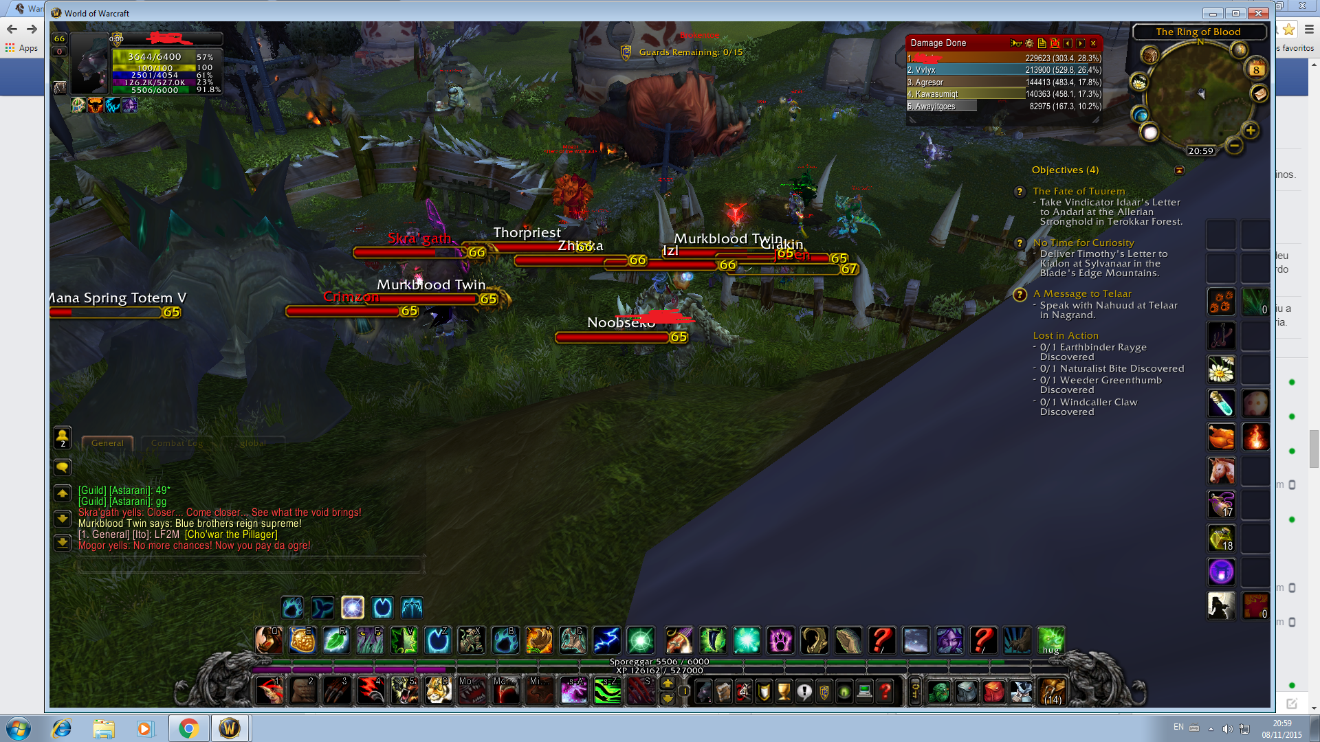 Trying to do The ring of blood aka nagrand arena quest but