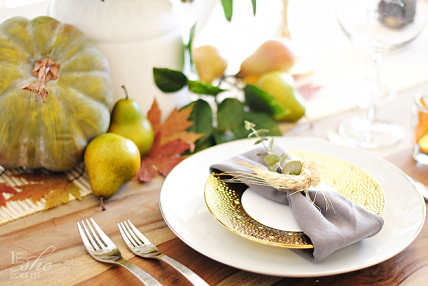 Last minute simple ideas for decorating your Thanksgiving table