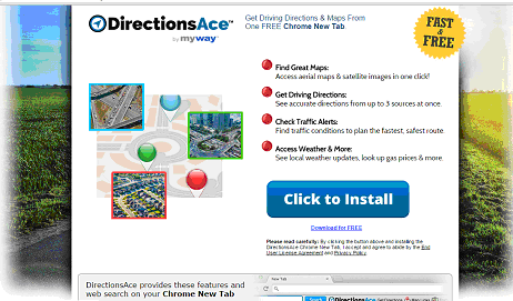 Delete DirectionsAce Toolbar