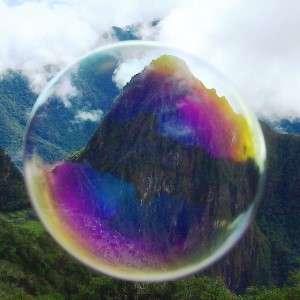 Macchu Picchu through a bubble